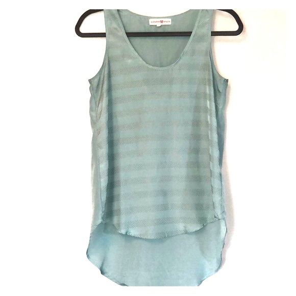 Altar'd State Tops - Seafoam tank with gold dots and tailback